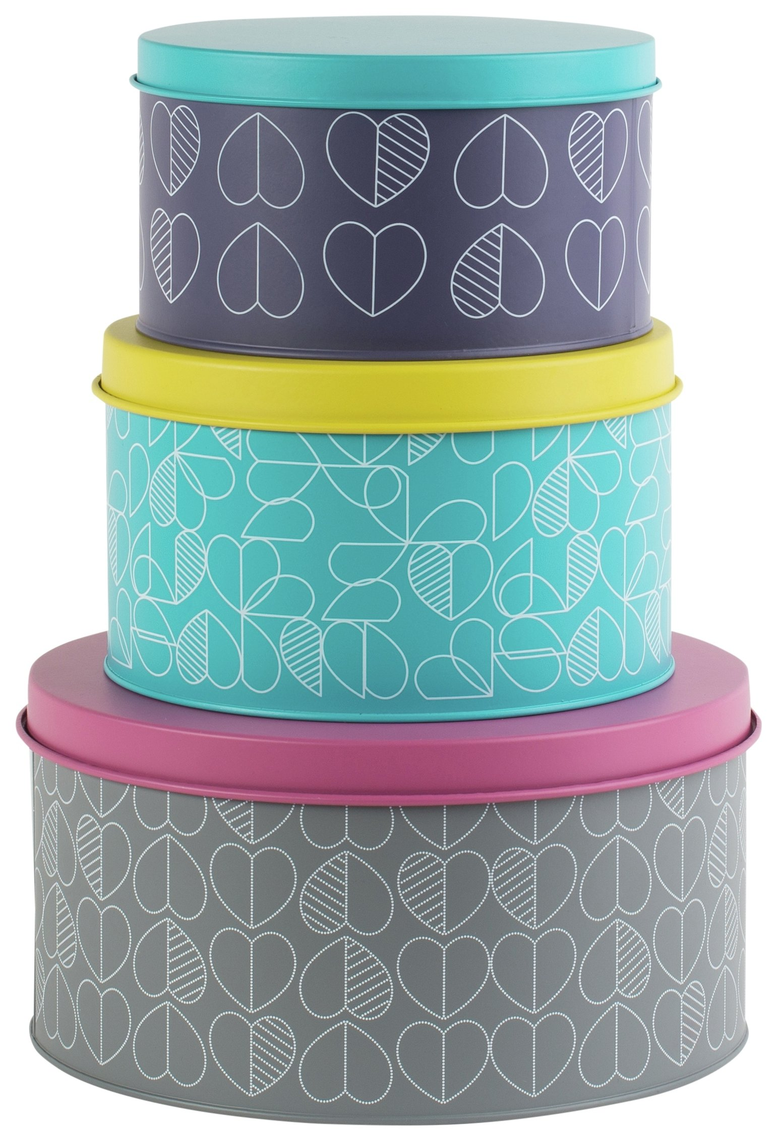 Image of Beau and Elliot Linear Set of 3 Nesting Storage Tins.