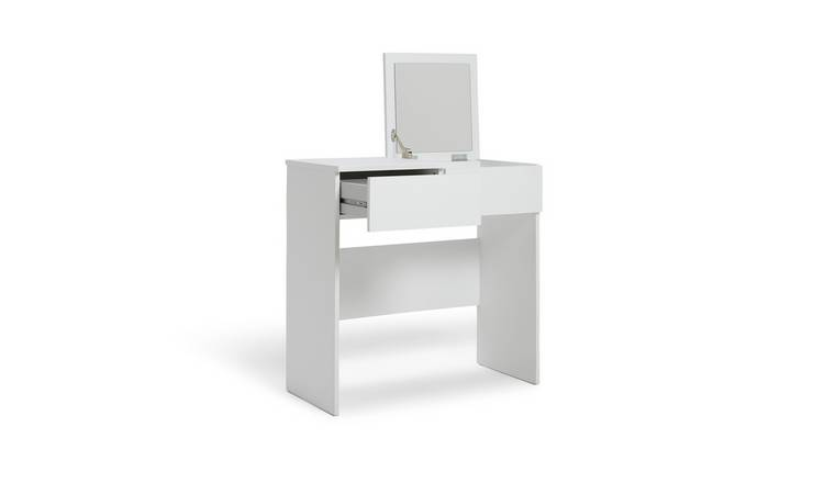 Habitat Malibu 1 Drawer Dressing Table & Mirror - White