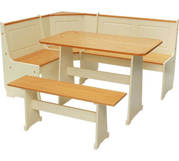 HOME Haversham Solid Pine Corner Dining Set With Bench