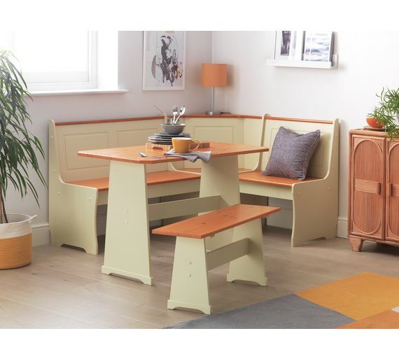 Buy HOME Haversham Solid Pine Corner Dining Set With Bench At