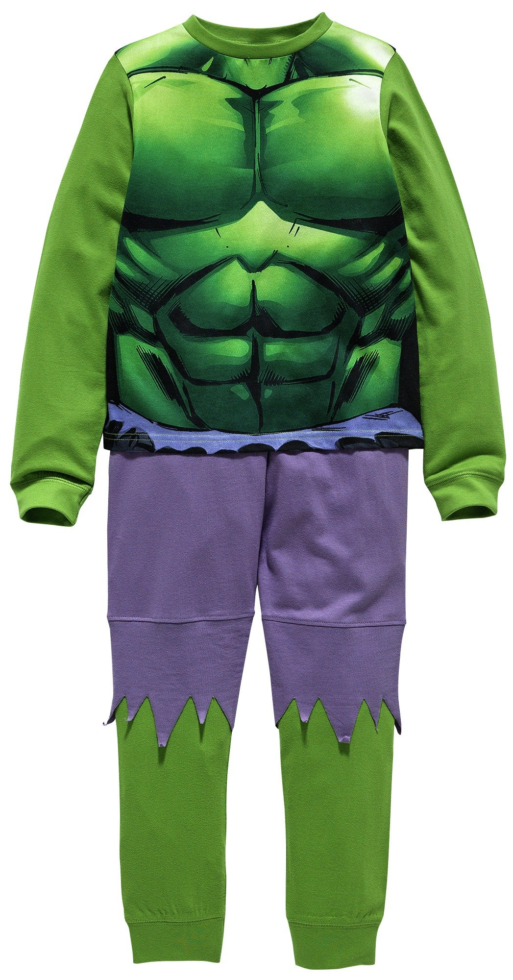 Image of Hulk Novelty Pyjamas - 7-8 Years.