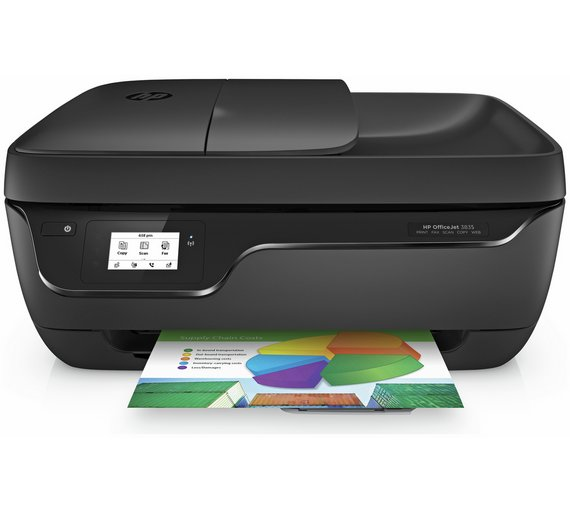 HP OfficeJet 3835 Wireless AIO Printer Instant Ink Trial