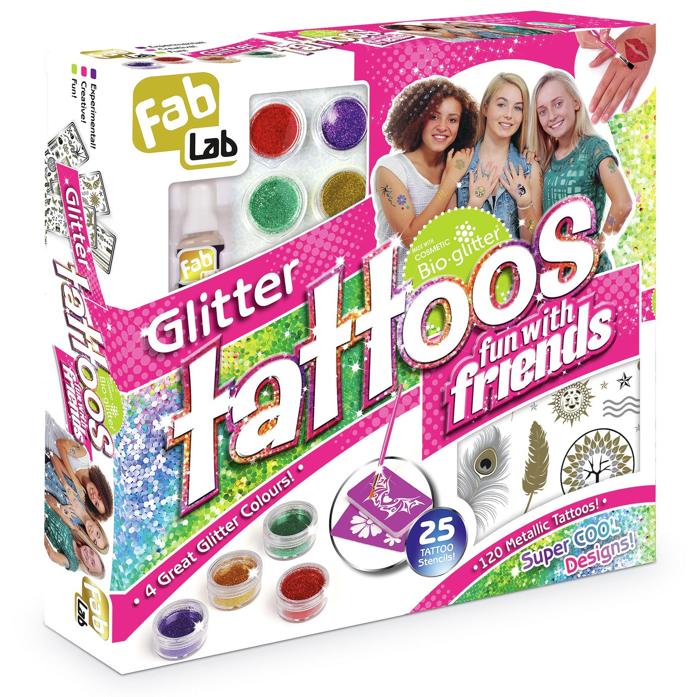 Buy Fablab Glitter Tattoos Fun With Friends Kit Jewellery And Fashion