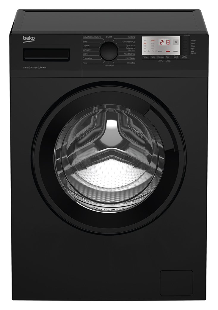 Image of Beko WTG841B1B 8KG 1400 Spin Washing Machine - Black