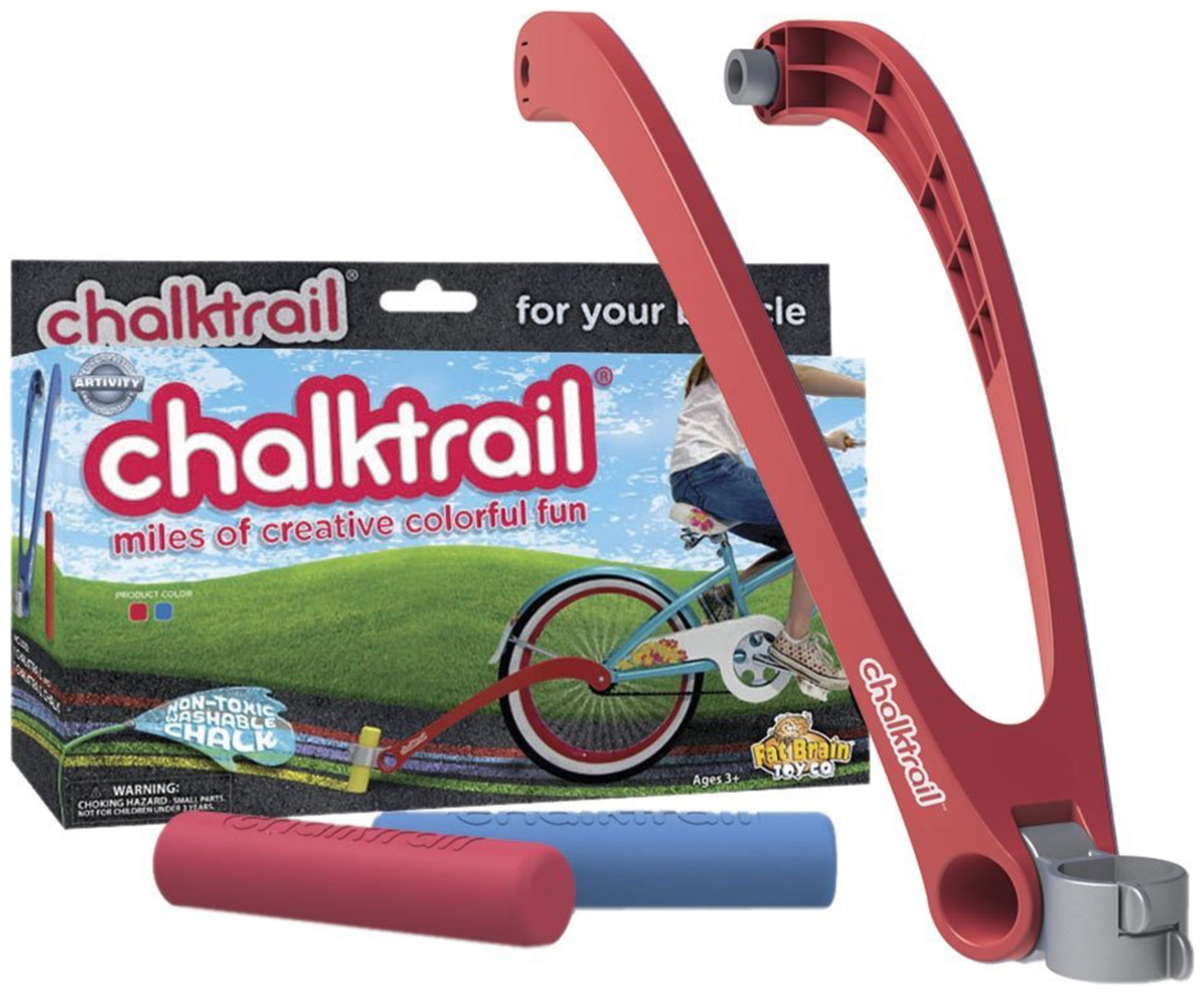 Image of Fat Brain Toys Chalktrail for Bikes - Red.