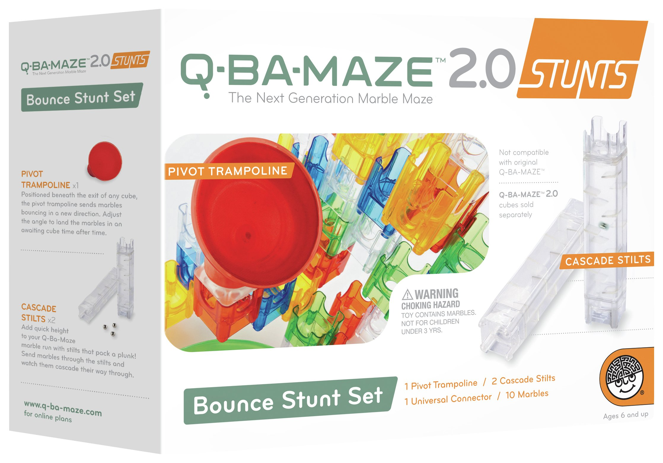 Mindware Q Ba Maze 2.0 Bounce Stunt Set.