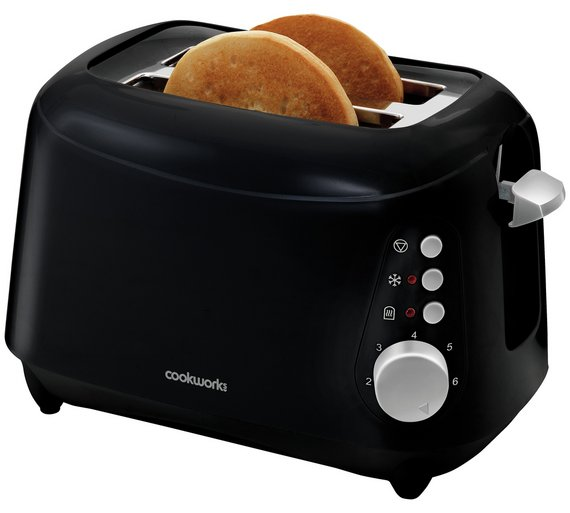 buy cookworks 2 slice toaster black toasters argos