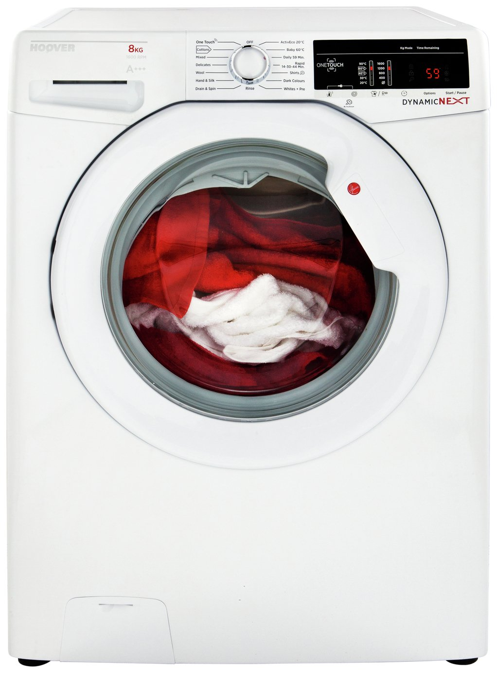 Image of Hoover DXOA147LW3 7KG Spin Washing Machine - White + Installation