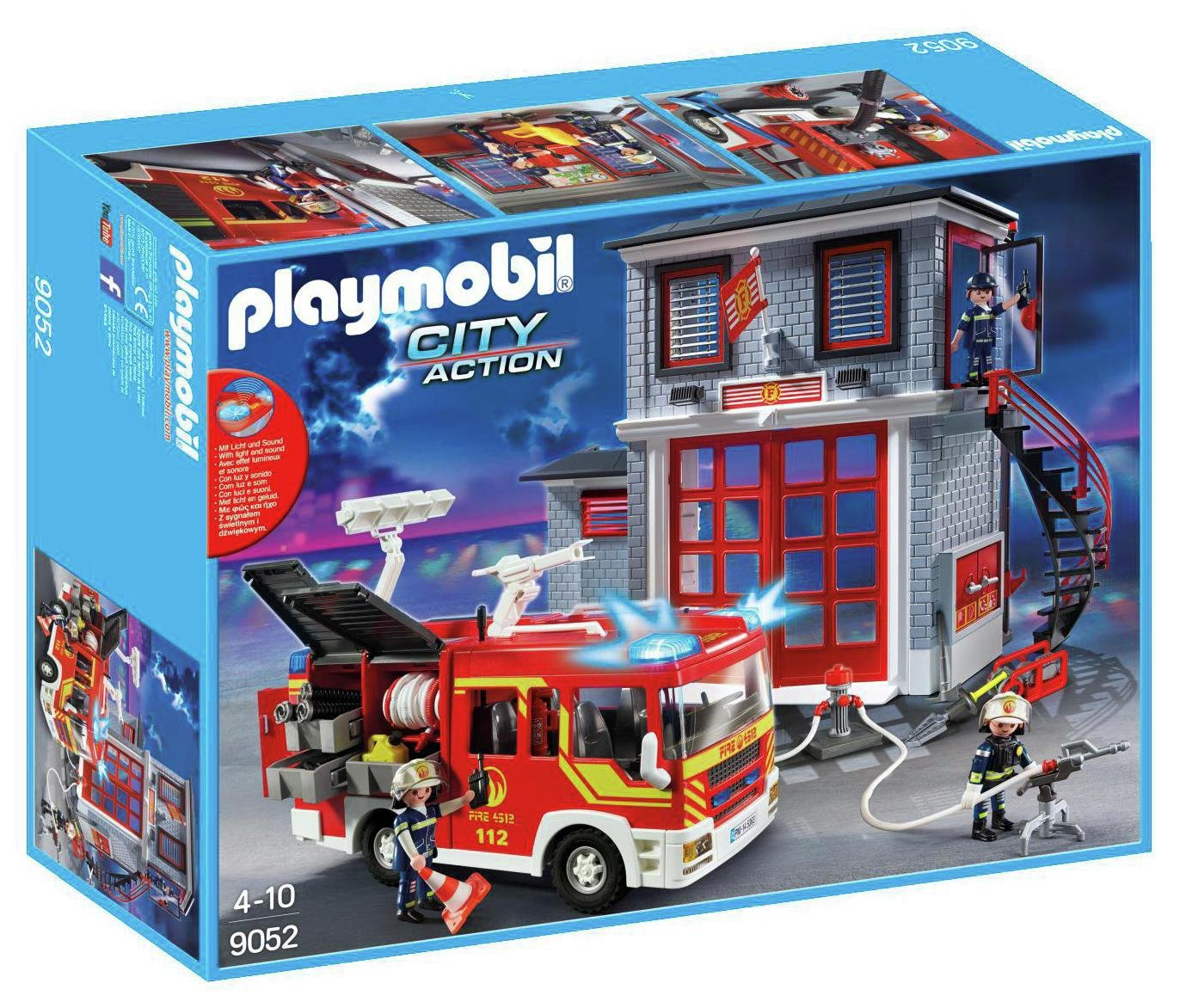 Playmobil 9052 City Action Fire Station Super Set