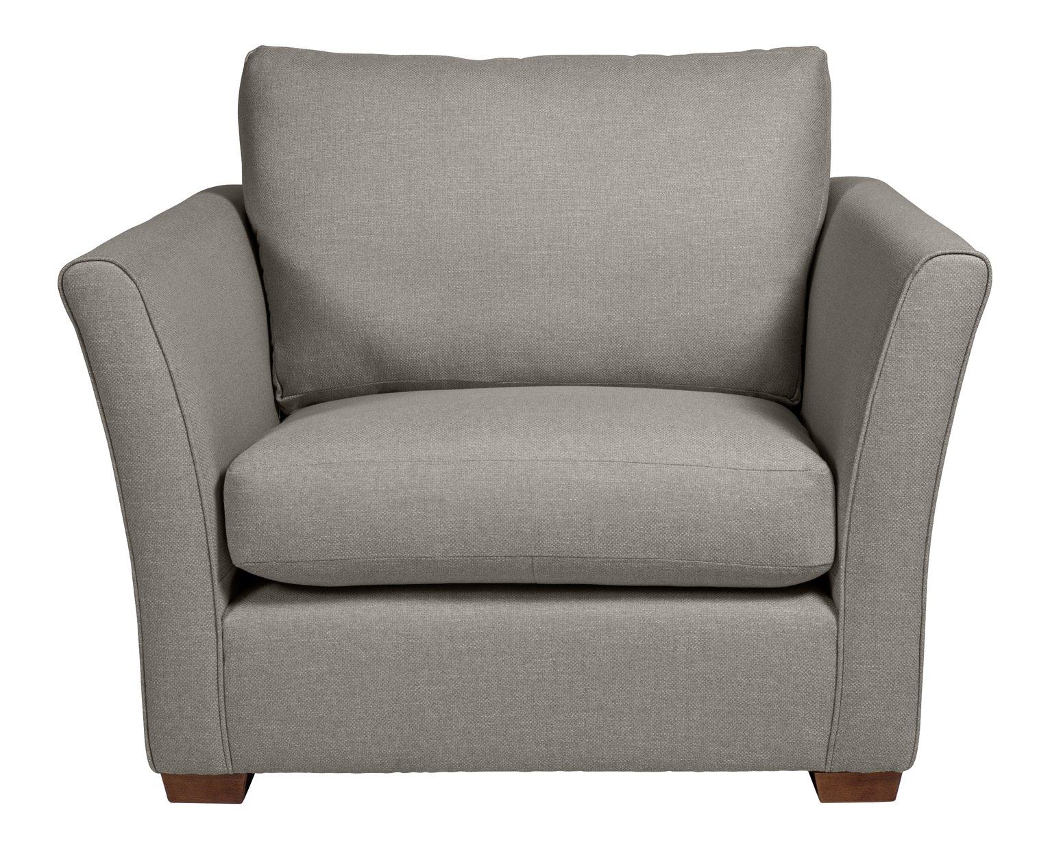 Argos Home Dawson Fabric Cuddle Chair - Grey