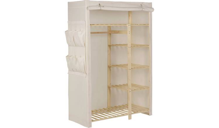 Argos Home Covered Double Wardrobe - Cream