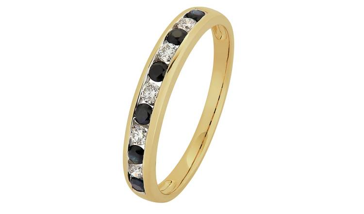 Revere 9ct Gold Sapphire & Diamond Channel Eternity Ring - I