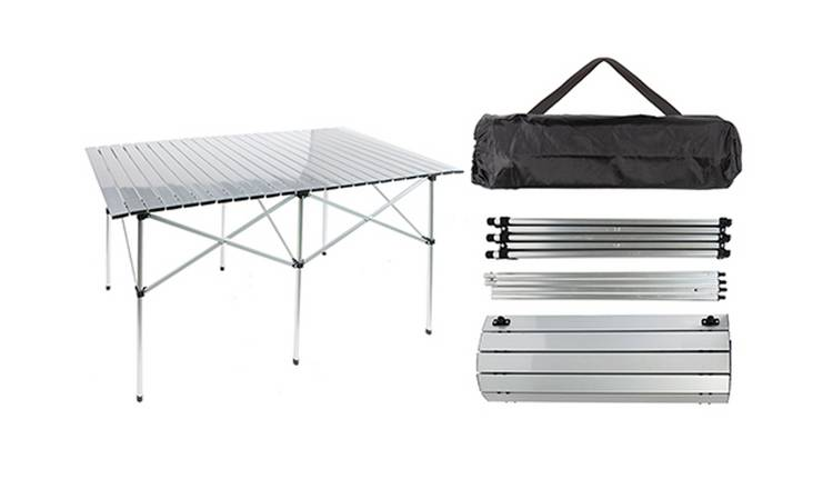 Summit Aluminium Double Roll Top Table