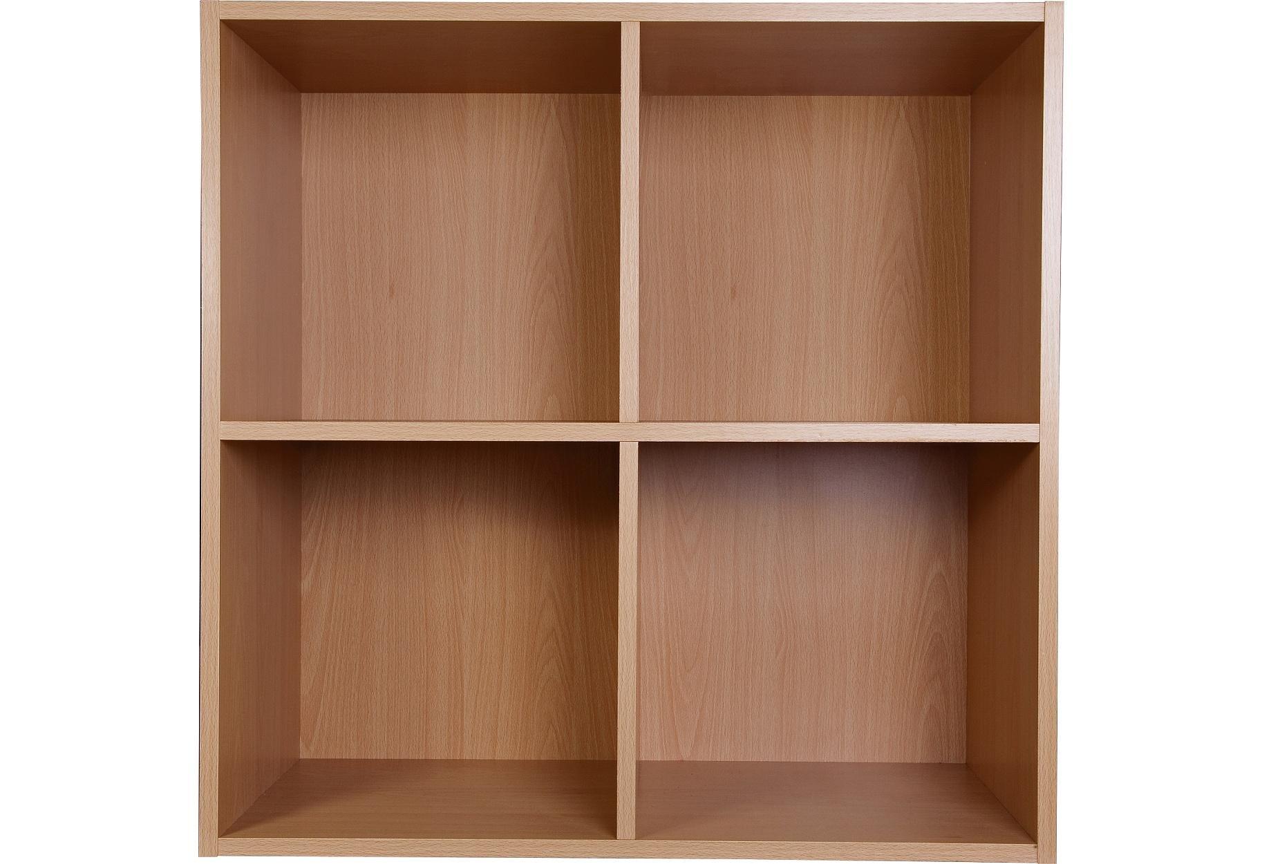 sale on phoenix 2 x 2 cube storage unit beech effect. Black Bedroom Furniture Sets. Home Design Ideas