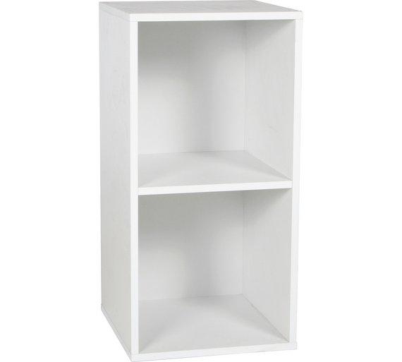 buy phoenix 2 cube storage unit white at. Black Bedroom Furniture Sets. Home Design Ideas
