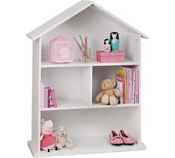 Childrens Kids 3 Tier Toy Bedroom Storage Shelf Unit 8: Buy Argos Home Mia Dolls House Bookcase - White