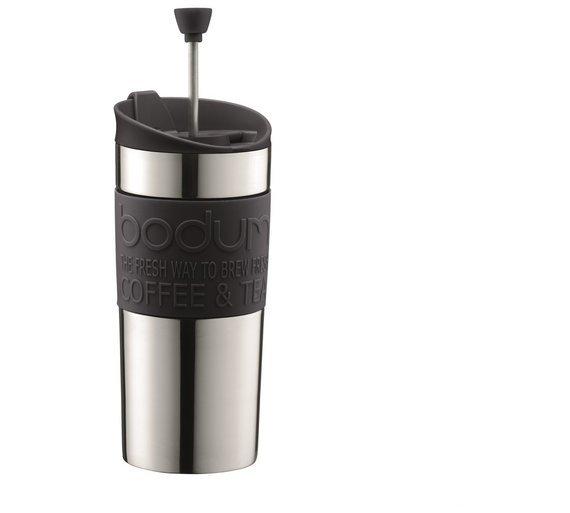 Image of Bodum Travel Press Coffee Maker Black Vacuum Mug - 350ml