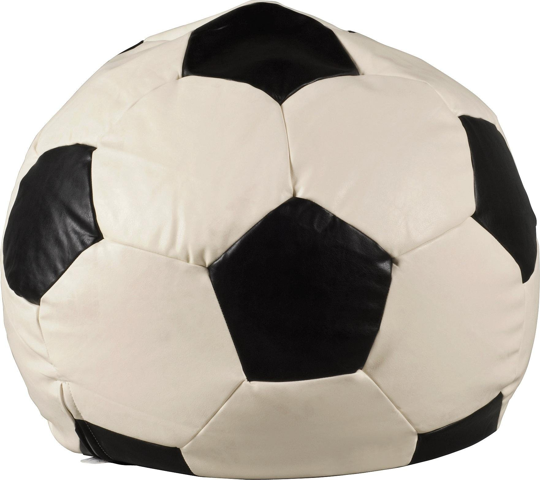 HOME XL Leather Effect Football Beanbag - Black & White
