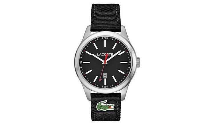 Lacoste Auckland Men's Black Fabric Strap Watch