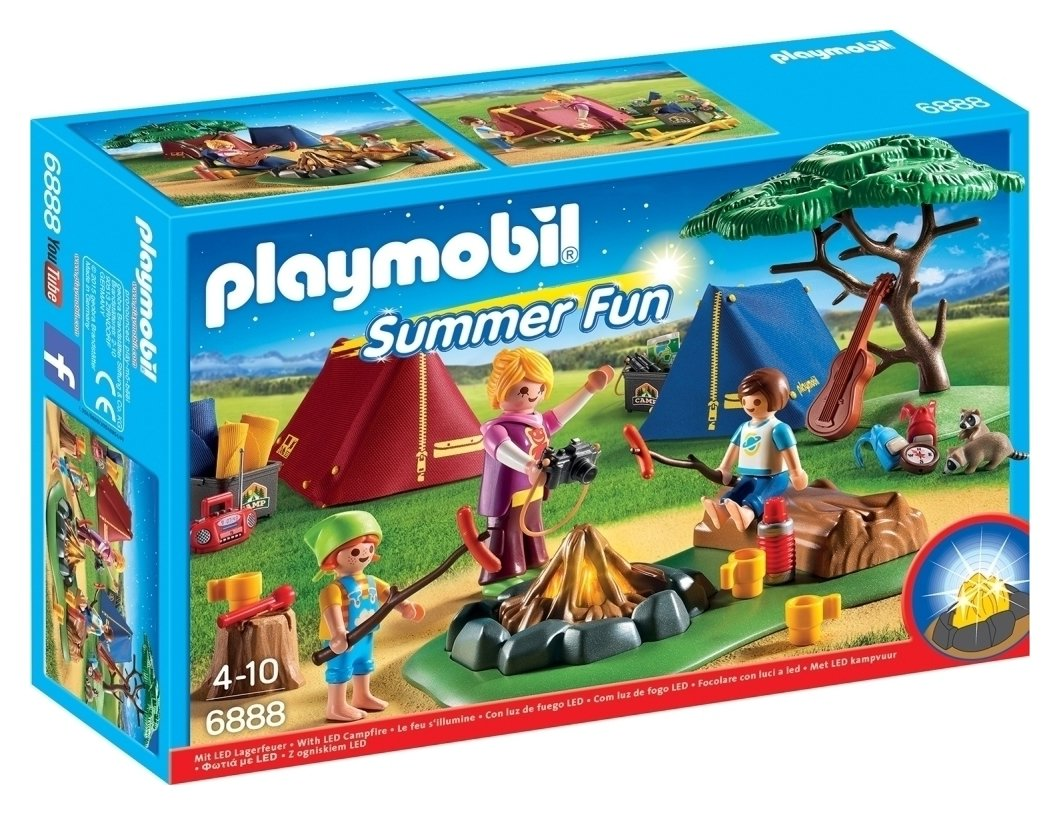 Playmobil 6888 Summer Fun Camp Site With LED Fire