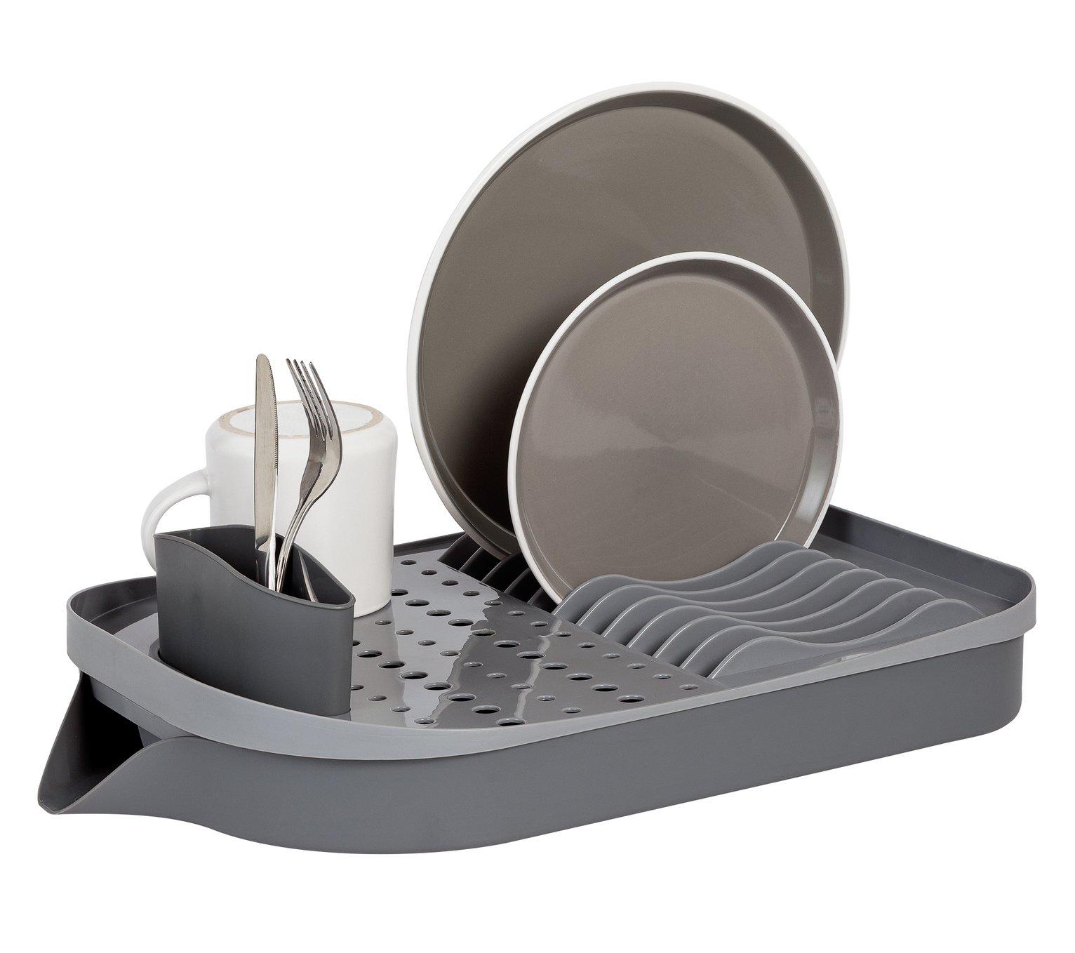 Argos Home Plastic Dish Drainer - Grey
