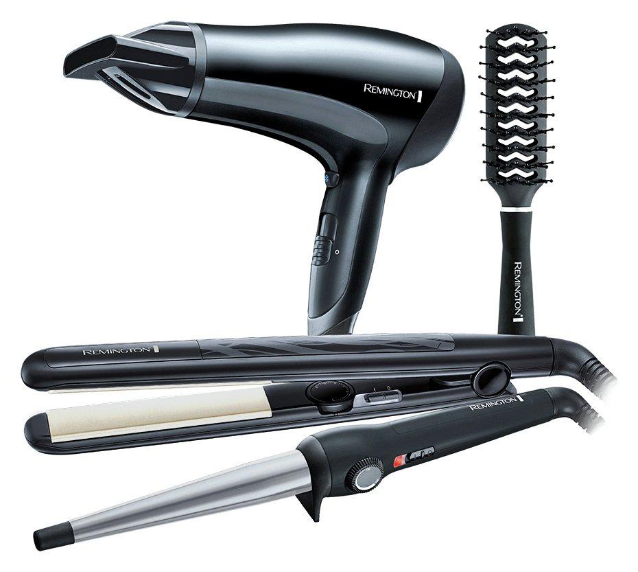 'Remington Hair Dryer, Wand, Straightener & Brush Gift Set