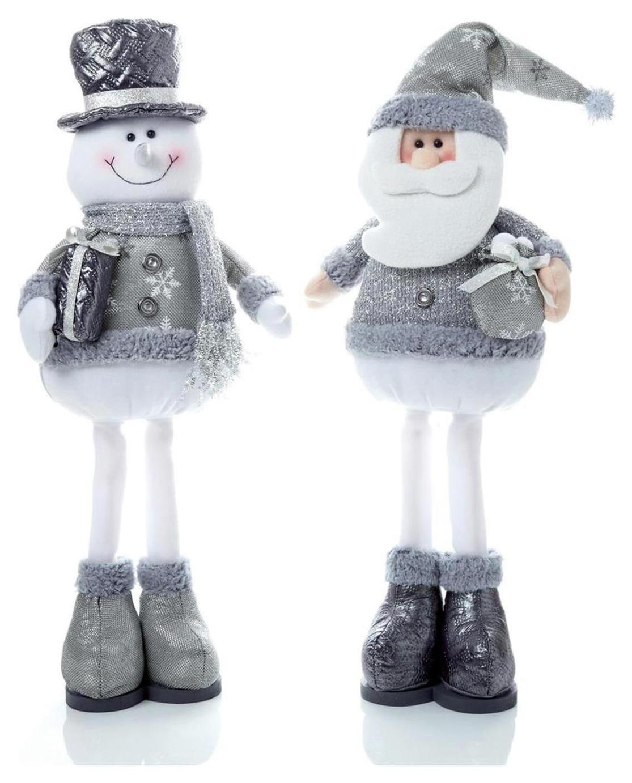 premier-decorations-sitting-santa-snowman-silver