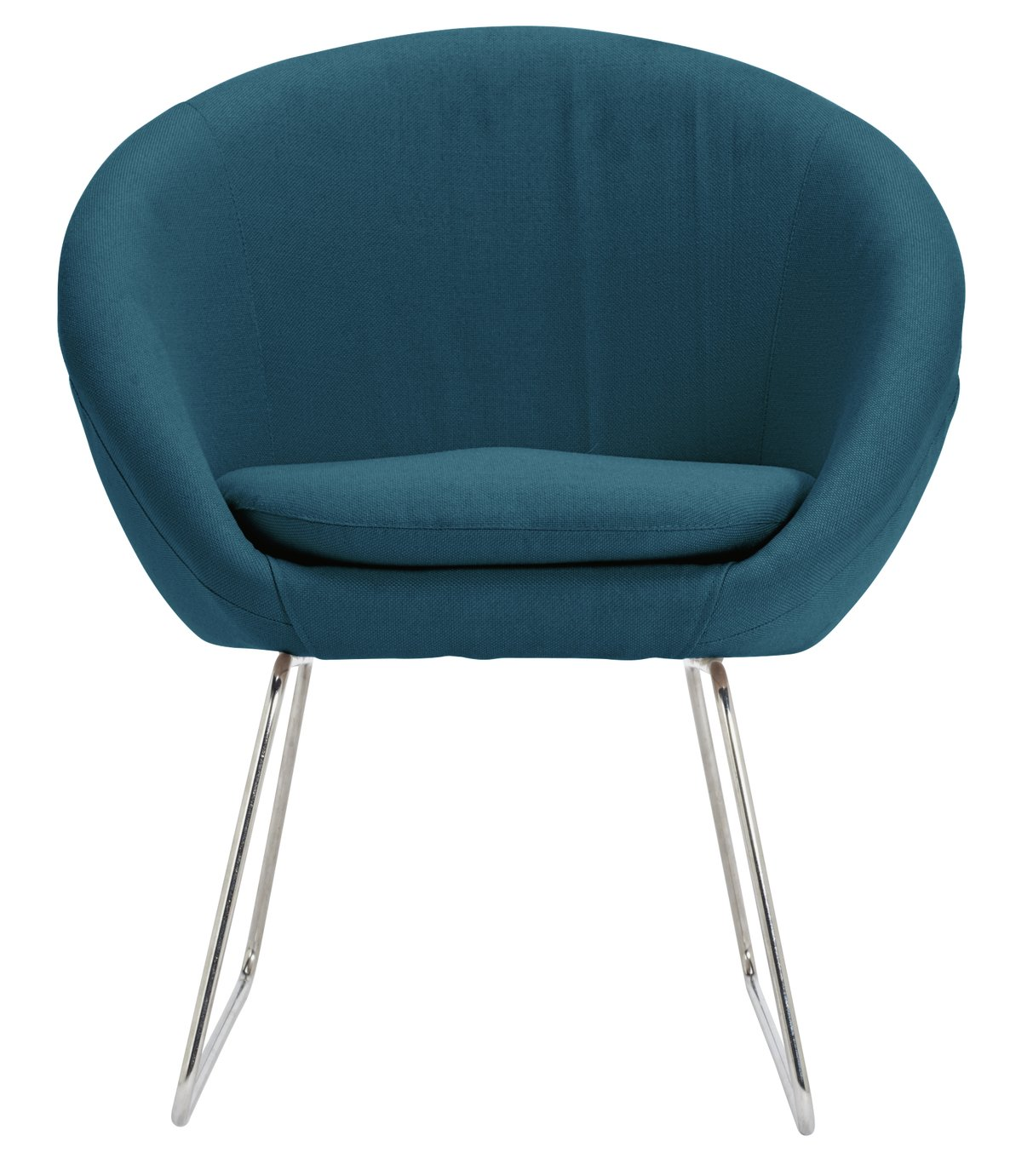 Argos Home Fabric Pod Chair - Navy