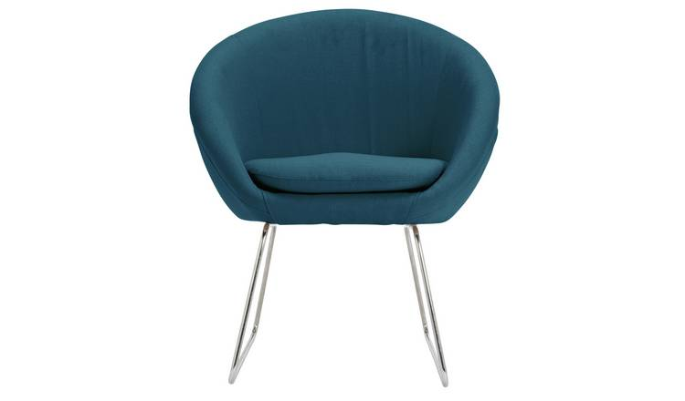 Buy Argos Home Fabric Pod Chair Navy | Armchairs and chairs | Argos