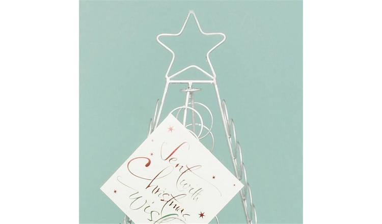 Buy Premier Decorations 100 Christmas Card Floor Holder Silver Christmas Table And Room Decorations Argos