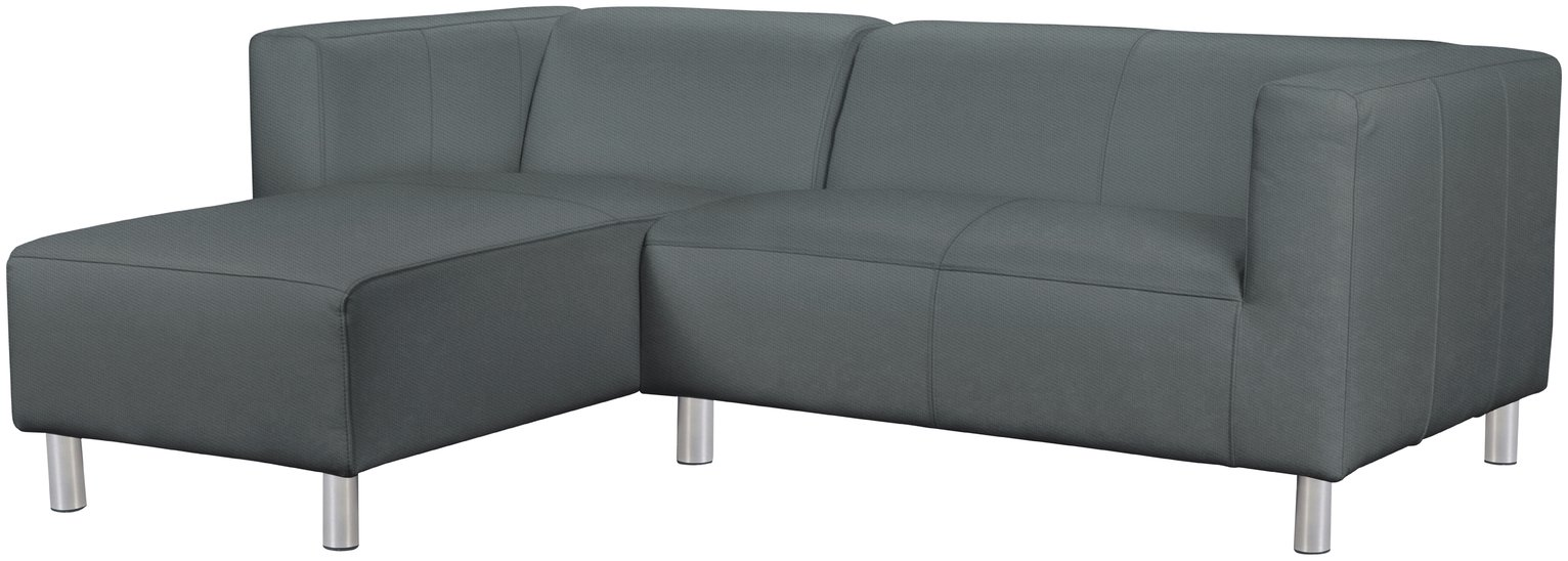 Argos Home Moda Left Corner Fabric Sofa - Grey