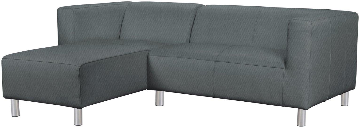 'Home - Moda - Fabric Left Hand Corner Sofa - Grey