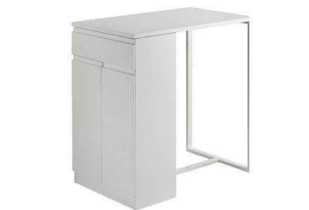 Hygena Lyssa Bar Table - White Gloss.