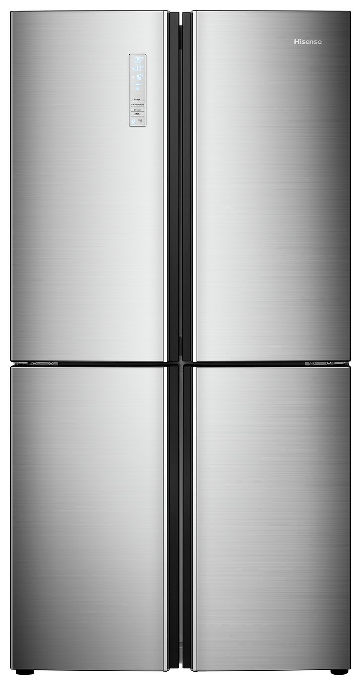 Hisense RQ689N4AC1 American Fridge Freezer - Stainless Steel