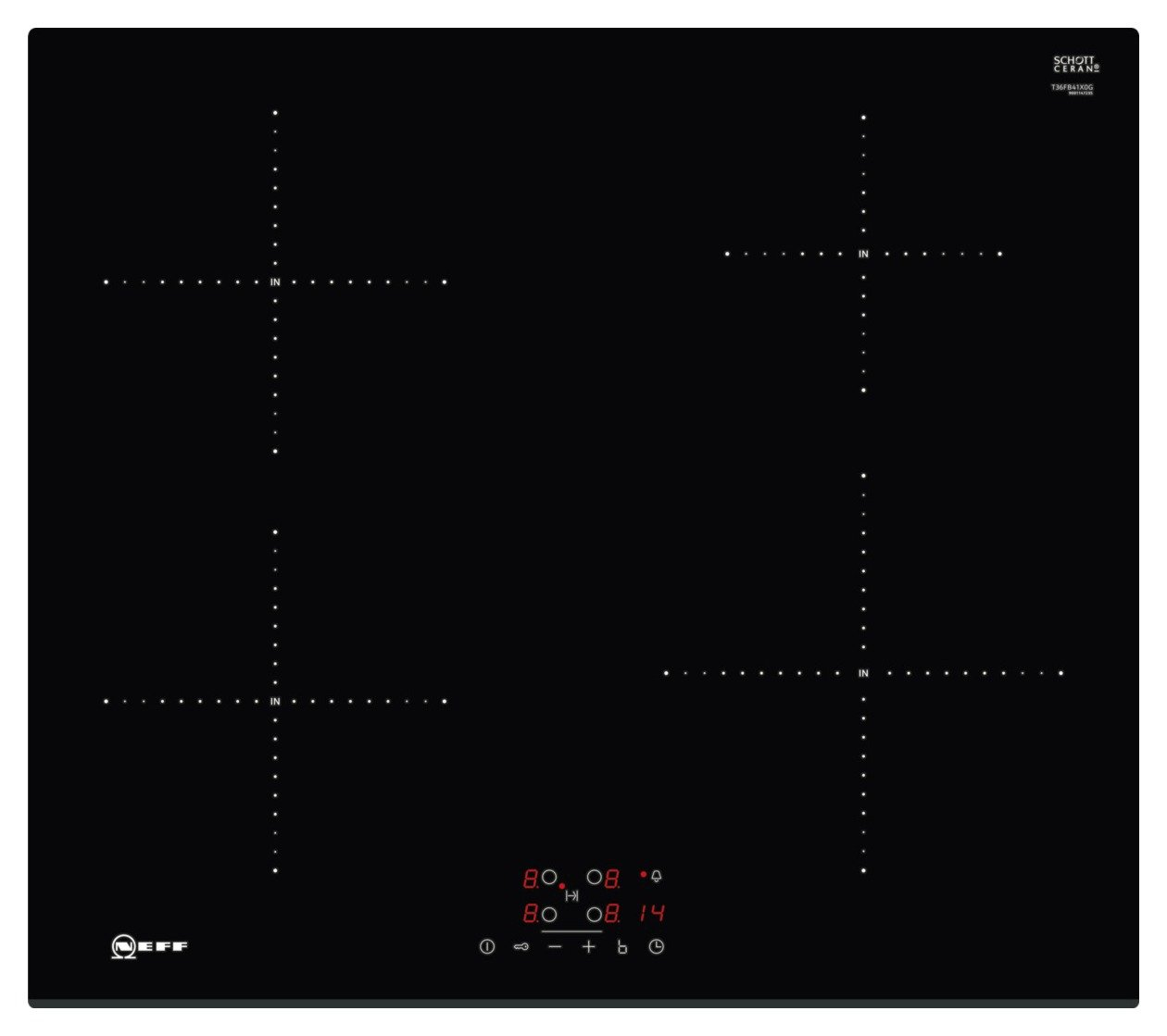 Neff T36FB41X0G Electric Induction Hob - Black