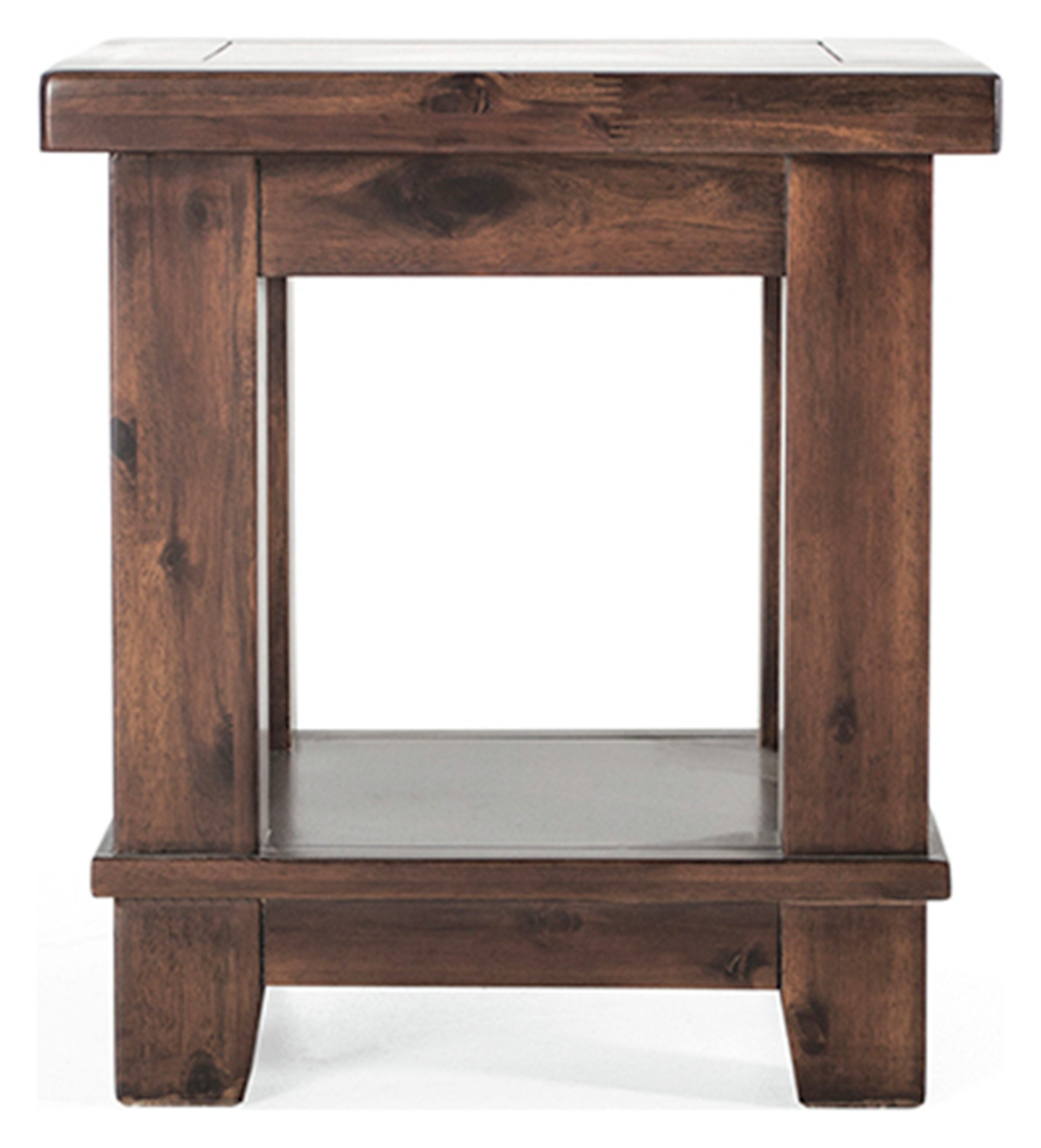 Image of Furnoko Emerson Solid Wood Lamp Table - Walnut
