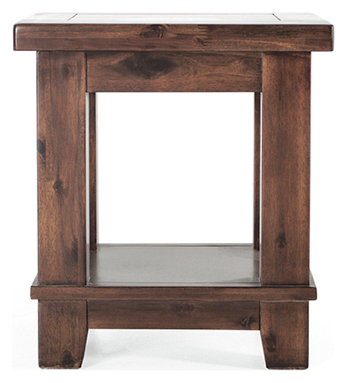Image of Furnoko Emerson Solid Wood Lamp Table - Walnut