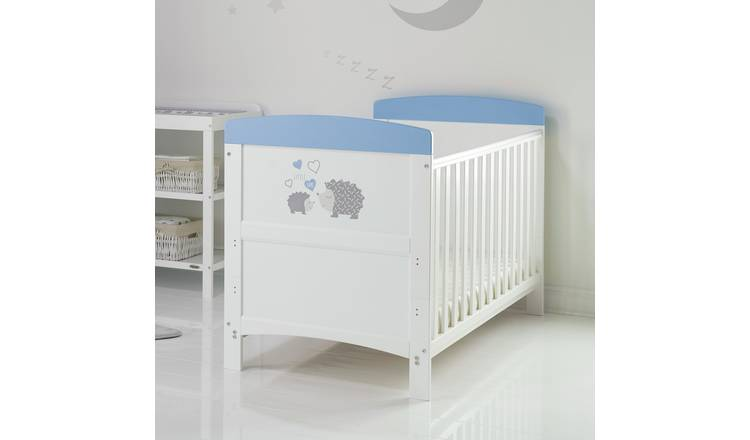 Obaby Hedgehog Cot Bed with Mattress - Blue