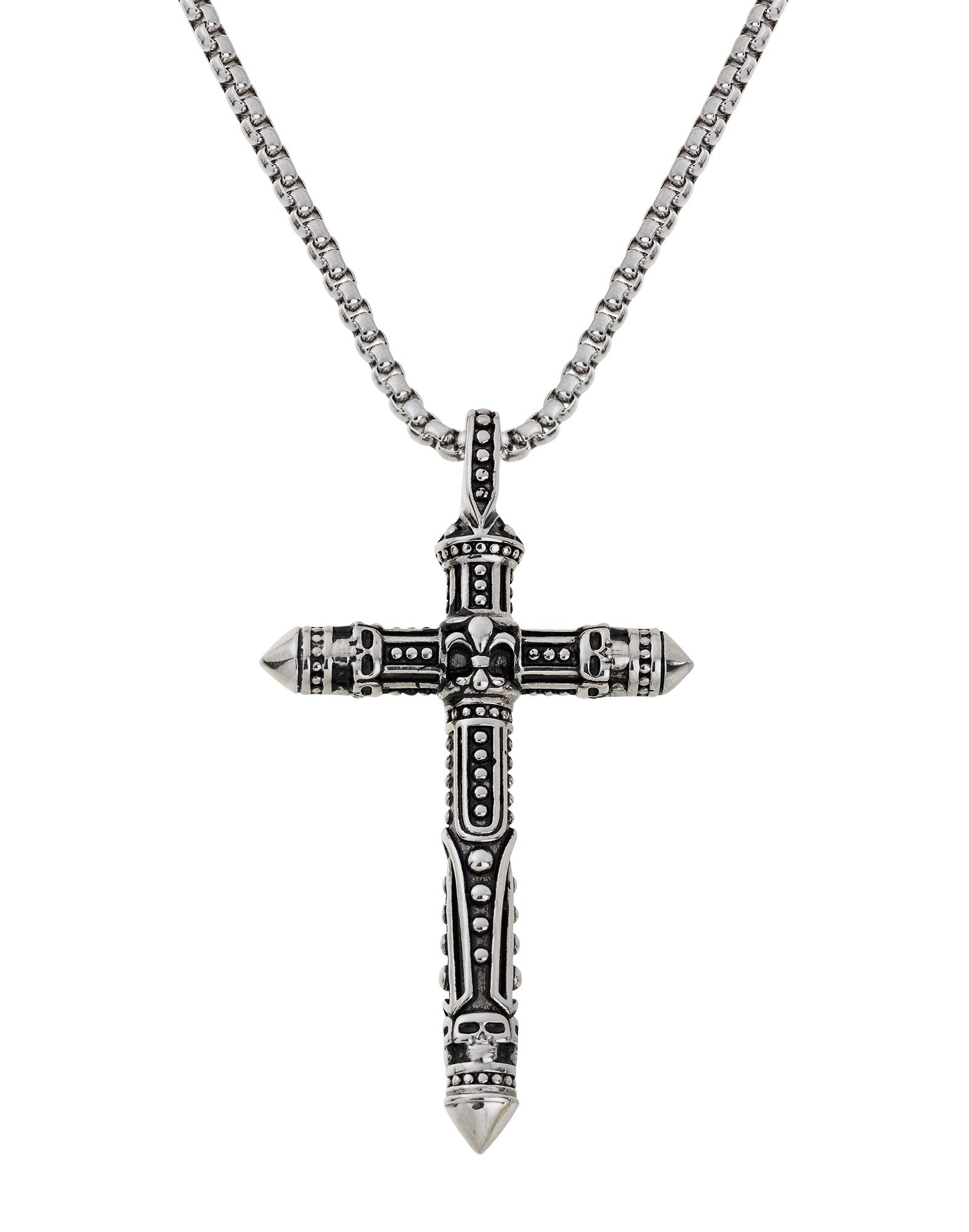 Image of Revere Men's Stainless Steel Cross Pendant
