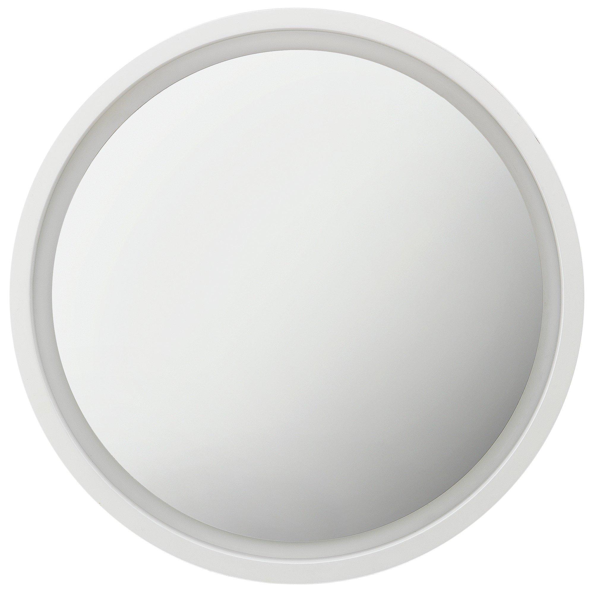 Argos Home Siena Round Floating Wooden Mirror - White