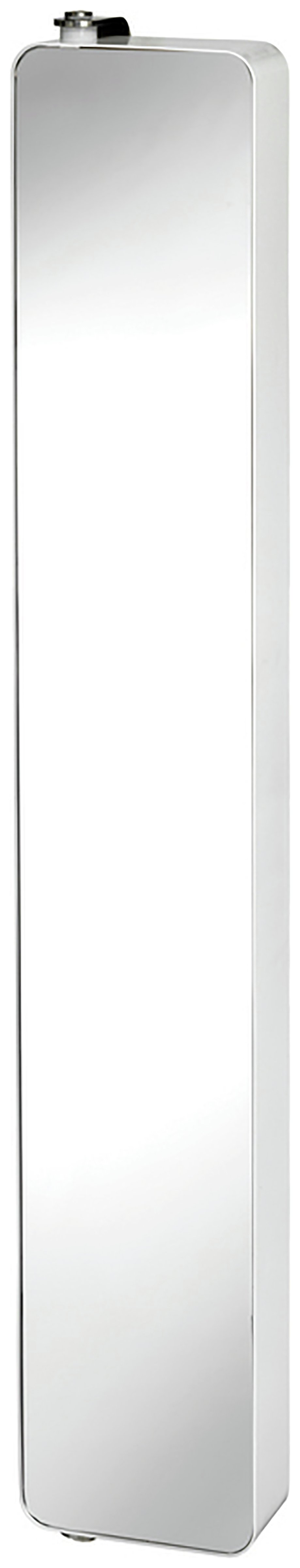 Image of Croydex Arun St Steel Tall Pivoting Mirror Cabinet - White