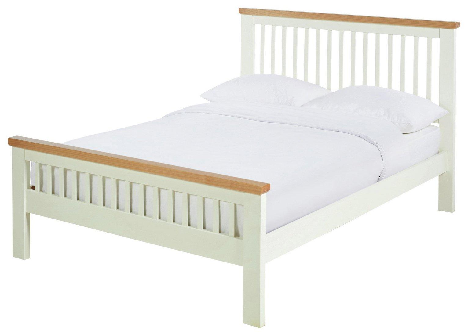 Argos Home Aubrey Kingsize Bed Frame - Two Tone