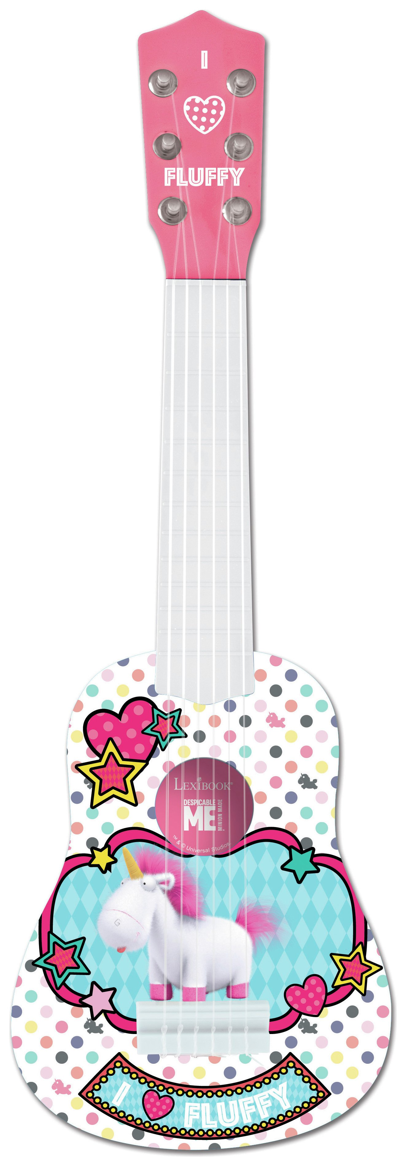 Lexibook Despicable Me Fluffy My First Guitar 21in
