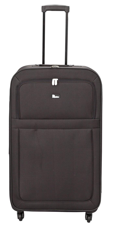 Buy Go Explore Soft 4 Wheeled Large Suitcase - Black at Argos.co ...