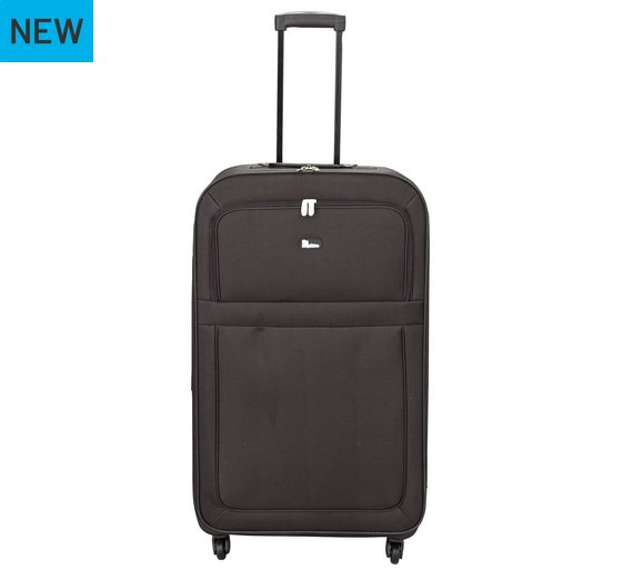 Buy Go Explore Soft 4 Wheeled Large Suitcase - Black at Argos.co ...