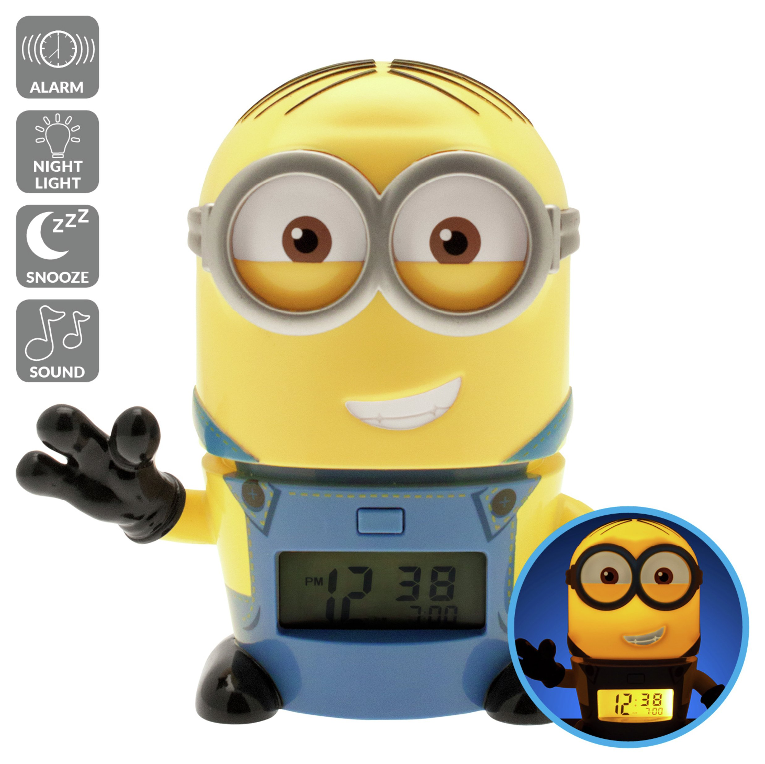 Image of BulbBotz Despicable Me 3 Minions Dave Light Up Alarm Clock
