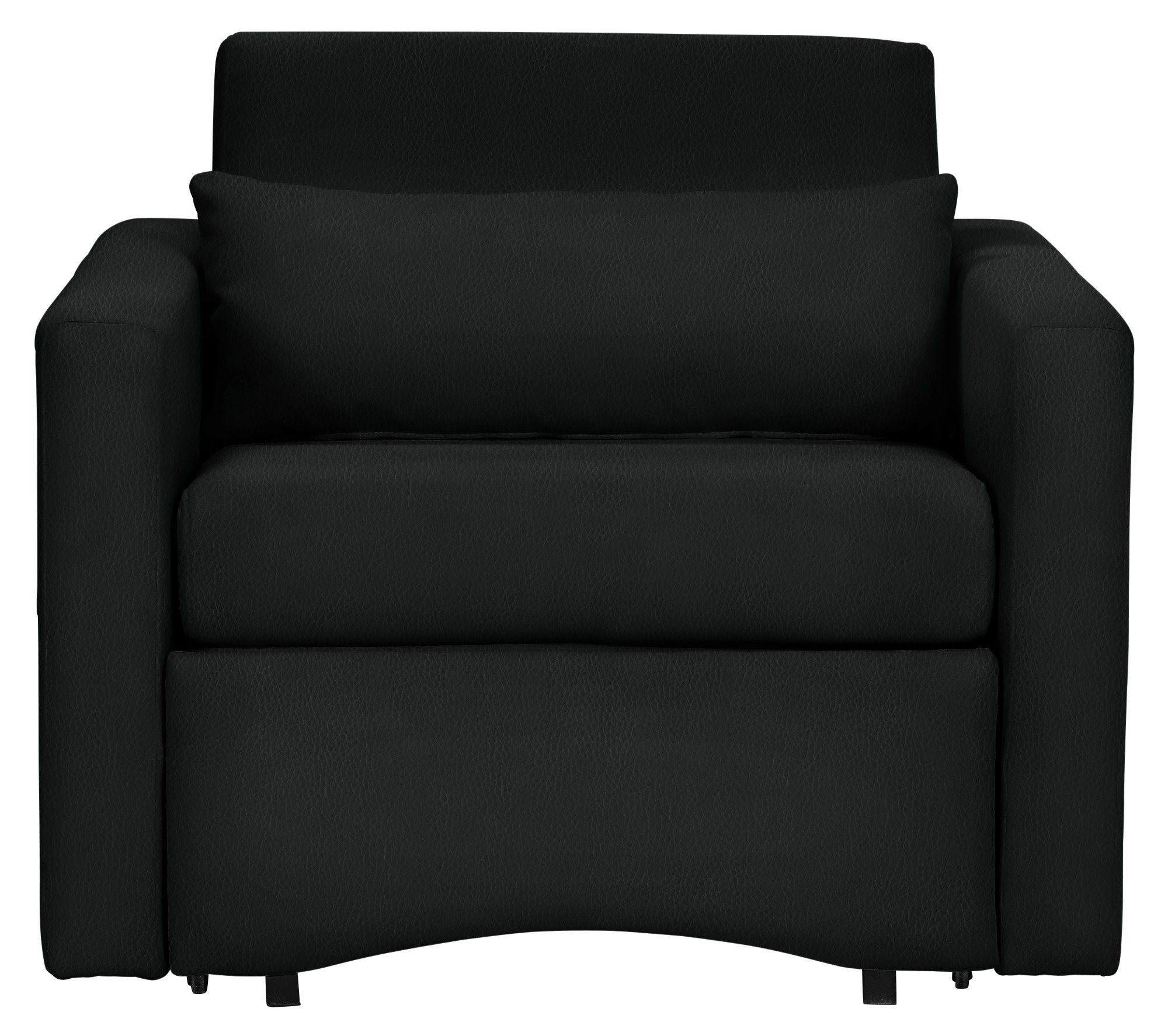 Argos Home Reagan Faux Leather Chairbed - Black