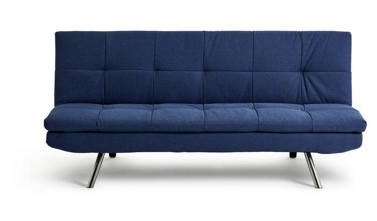 Argos Home Nolan 3 Seater Fabric Sofa Bed - Denim Blue