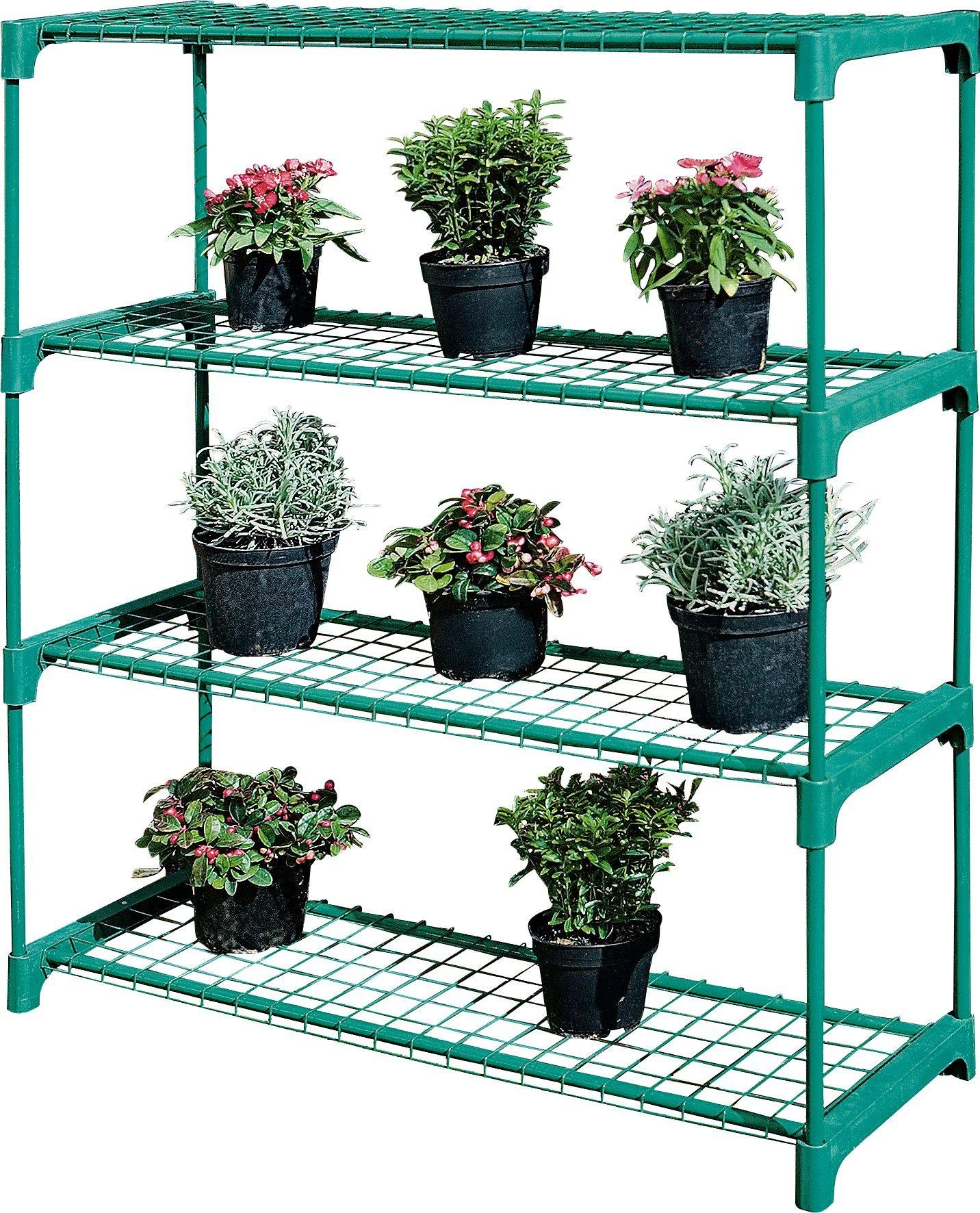 Image of Argos - 4 Shelf Tubular Greenhouse Staging - Twin Pack