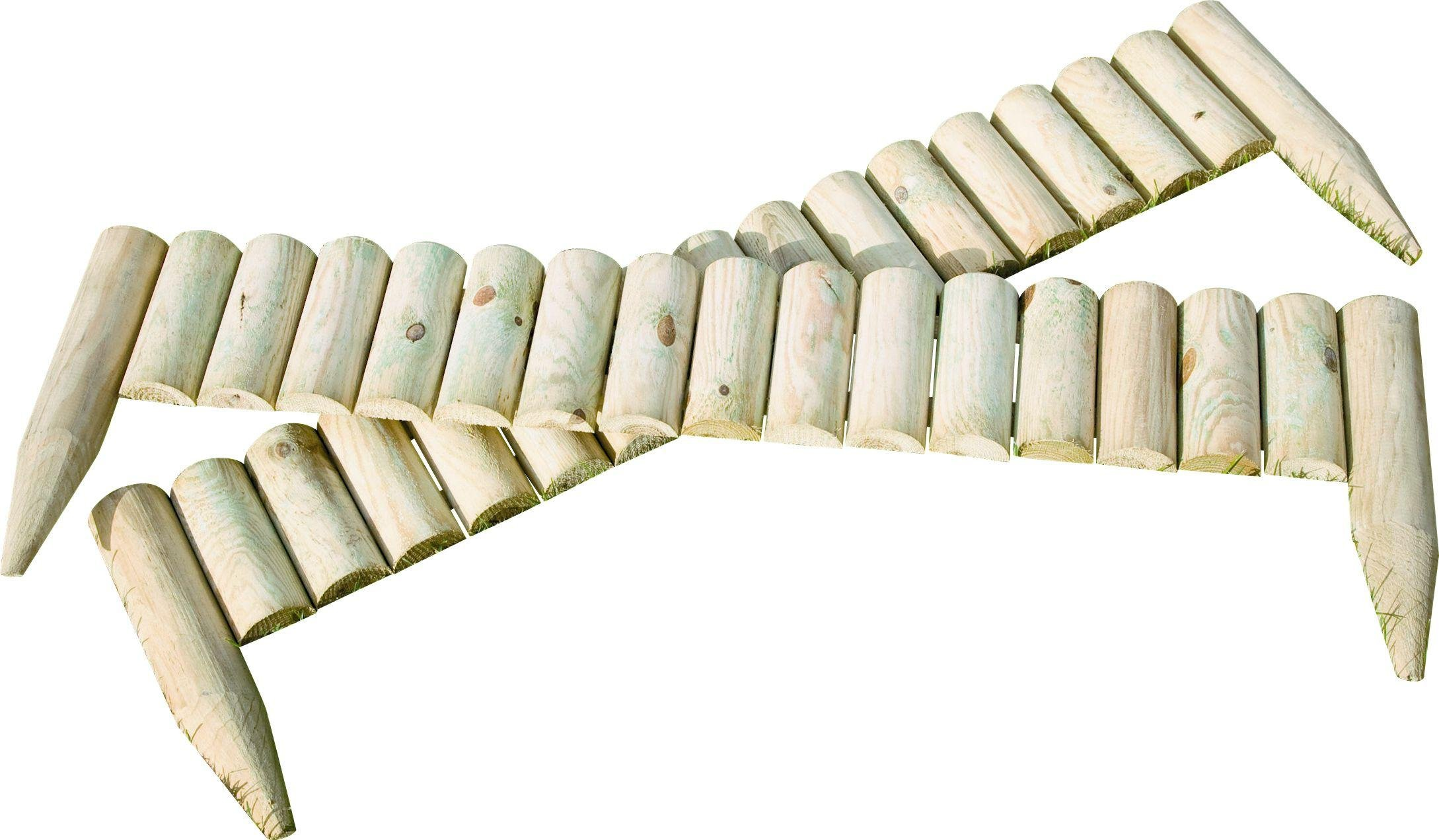 Image of Fixed Log Edging Regular - Pack Of 2